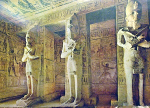 Picture of the inner chambers at Abu Simbel, Egypt