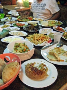 Picture of a meal in Alexandria, Egypt