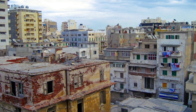 Picture of buildings in Alexandria, Egypt