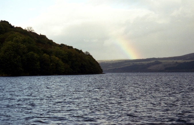 Picture of rainbow over Loch Ness in Scotland