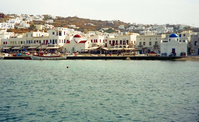 Picture of the harbor at Mykonos, Greece