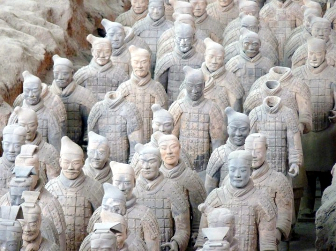 Picture of the terracotta warriors in Xian, China