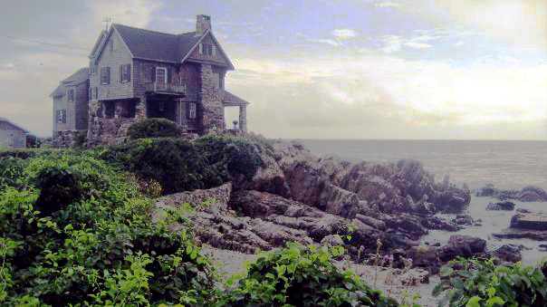 Picture of house on coast in Kennebunkport, Maine
