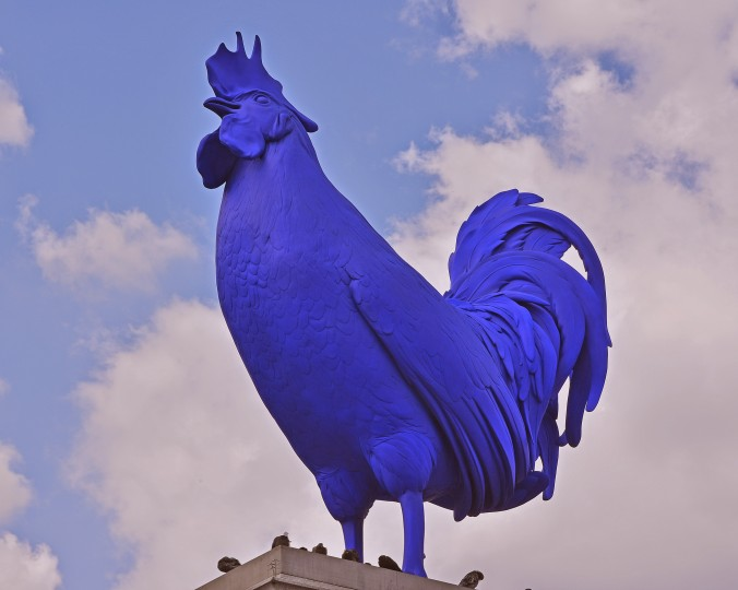 Picture of the current Fourth Plinth commission, Hahn/Cock by Katharina Fritsch