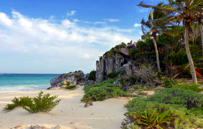 Picture of beach at Tulum, Mexico