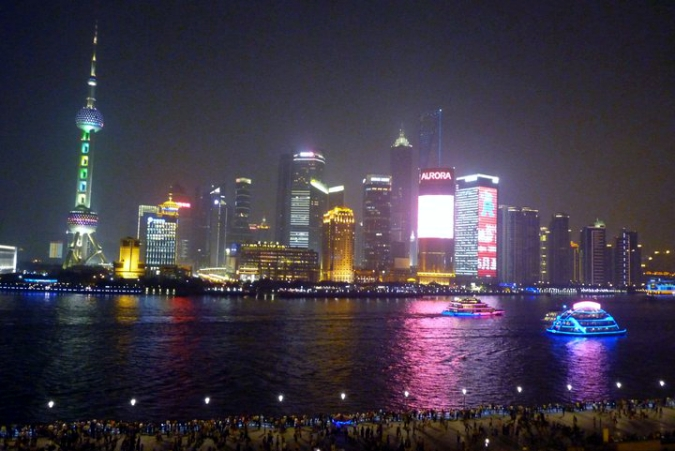 Picture of Shanghai at night as seen from the Bund
