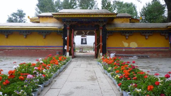 Picture of Norbulingka gardens in Lhasa, Tibet