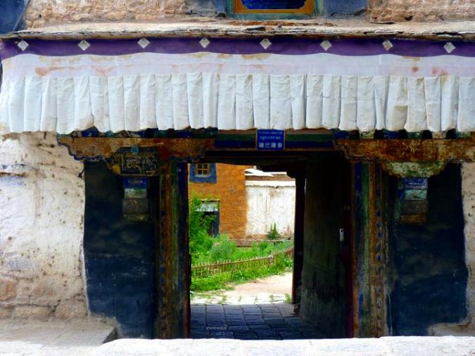 Picture of doorway at Sera Monastery in Lhasa, Tibet