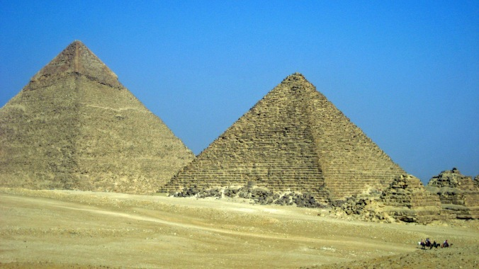 Picture of the pyramids of Giza, Egypt