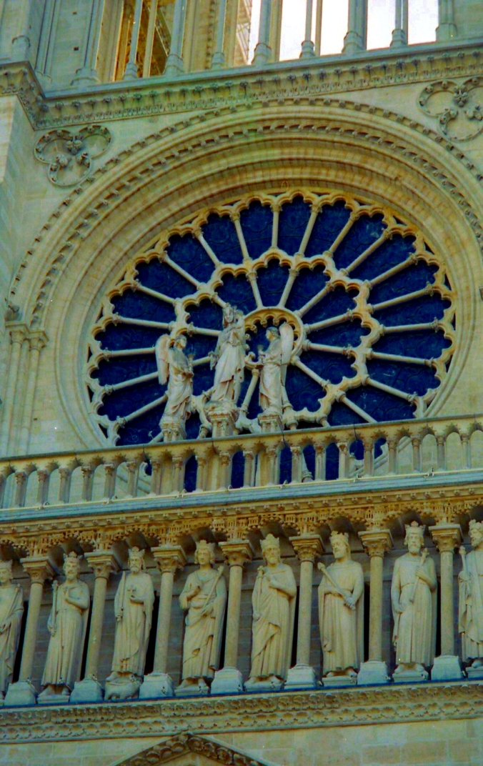 Picture of the rose window at Notre Dame in Paris, France