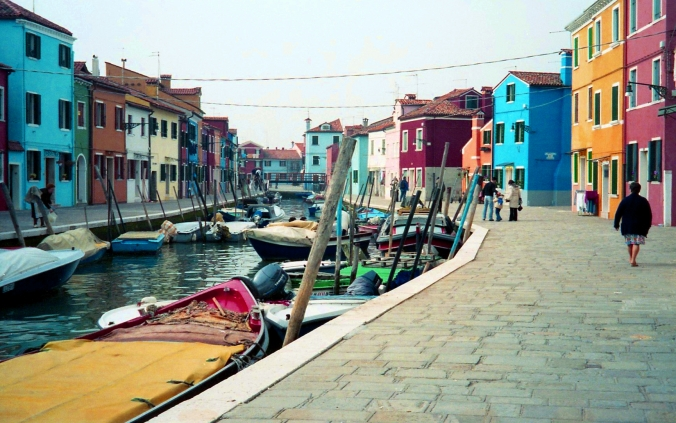 Picture of Burano in Italy