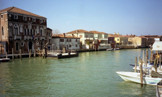 Picture of Murano's canal in Italy