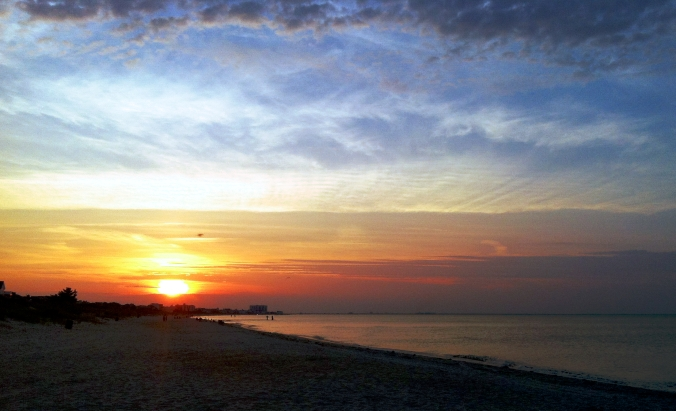Picture of sunset on Virginia Beach, Virginia
