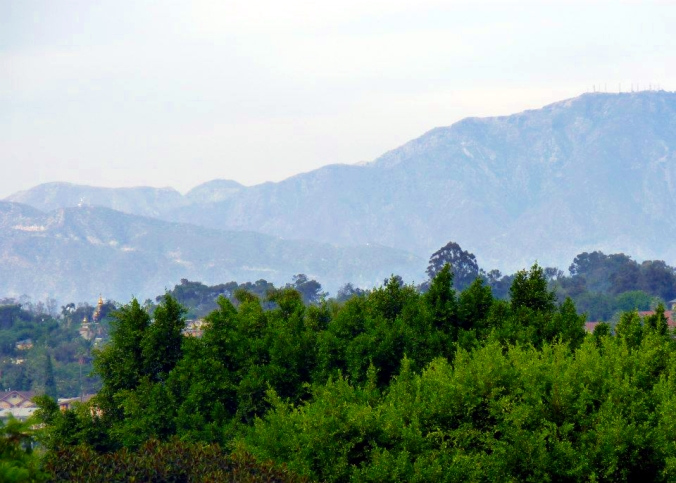 Picture of hills around Hollywood in Los Angeles, California