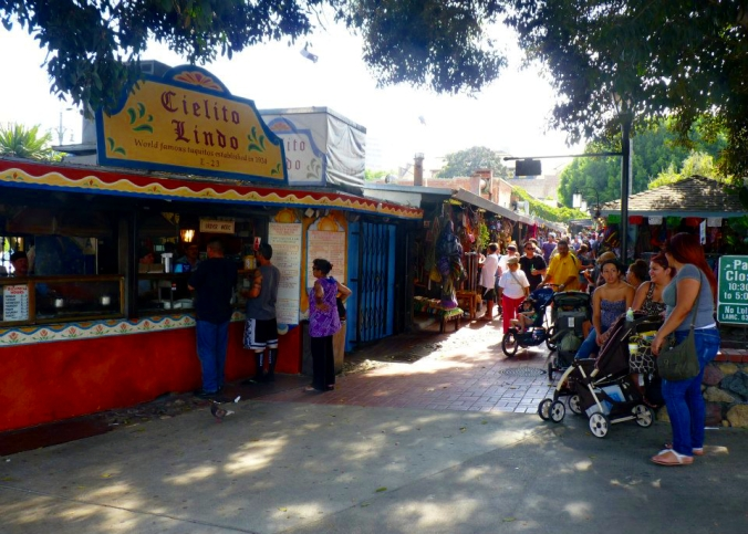 Picture of Olvera Street in Los Angeles, California