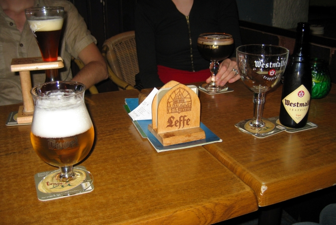Picture of beer in Bruges, Belgium