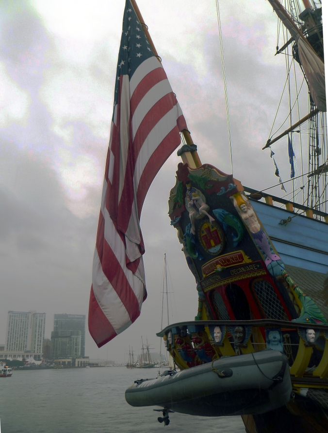 Picture of a ship on the Baltimore Harbor in Maryland