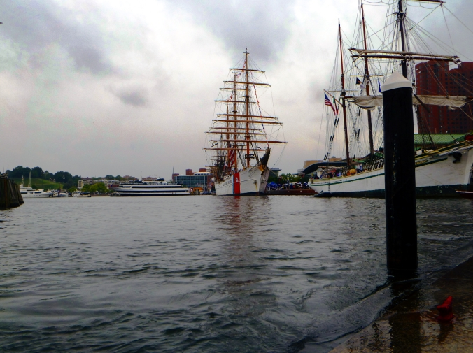 Picture of high water in Baltimore harbor, Maryland