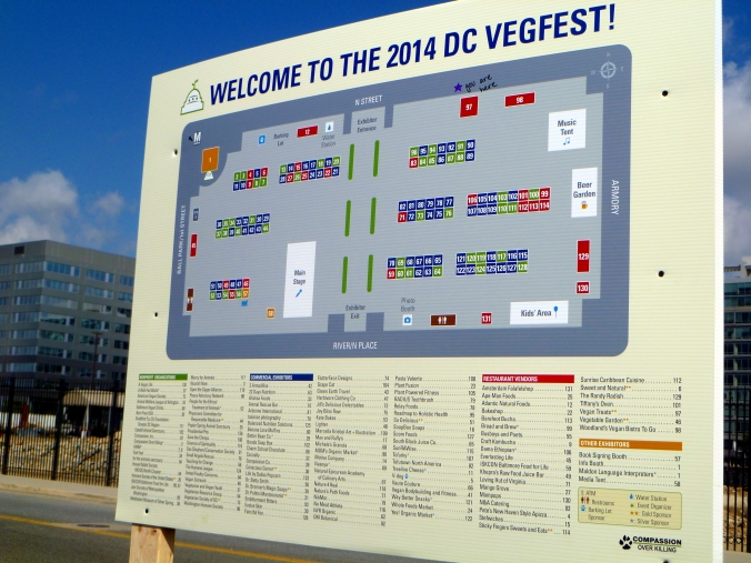 Picture of sign at the DC VegFest
