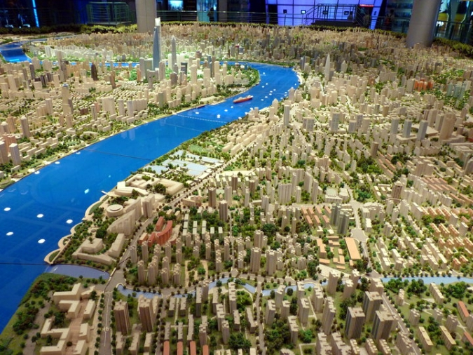 Picture of Scale model of Shanghai at the city's Urban Planning Exhibition Center