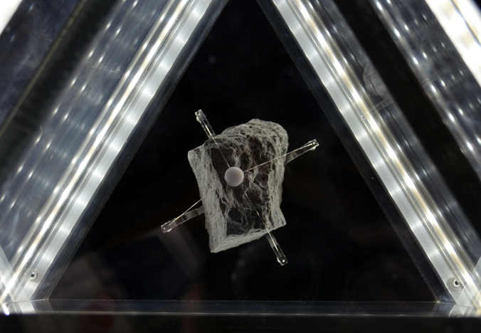 Picture of moon rock at Goddard Space Flight Center in Greenbelt, Maryland