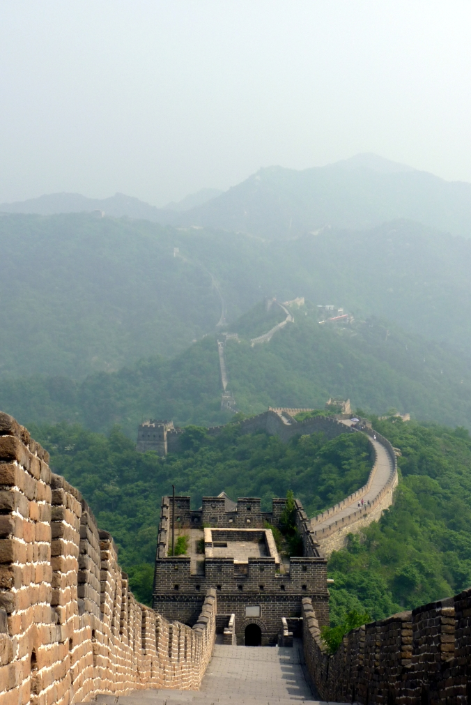 Picture from the top of the Great Wall of China