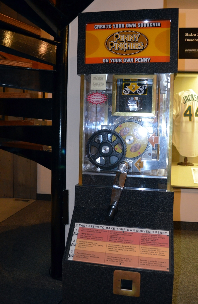 Picture of exhibit at the Babe Ruth Birthplace Museum in Baltimore, Maryland