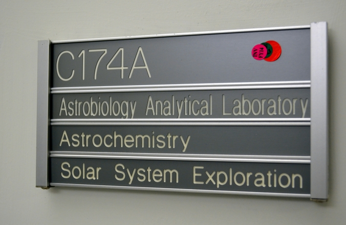 Picture of door sign at Goddard Space Flight Center in Greenbelt, Maryland, USA