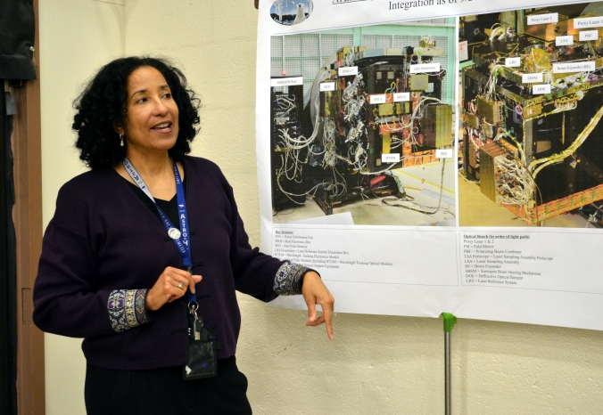 Picture of Cynthia Simmons, ATLAS Instrument Project Manager at Goddard Space Flight Center in Greenbelt, Maryland, USA