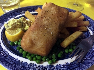Picture of Vegan fish and chips from The Coach and Horses in London, UK