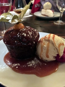 Picture of vegan sticky toffee pudding from Manna in London, UK