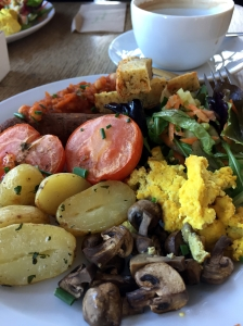 Picture of vegan English breakfast from inSpiral Lounge in Camden, London, UK